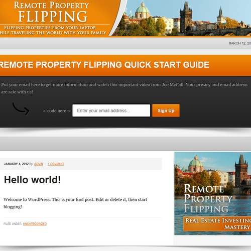 "Create Logo and Header for ""Remote Property Flipping"" Blog"