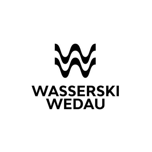 double letter W + wave logo
