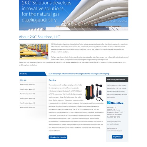 landing page for 2KCsolutions.com