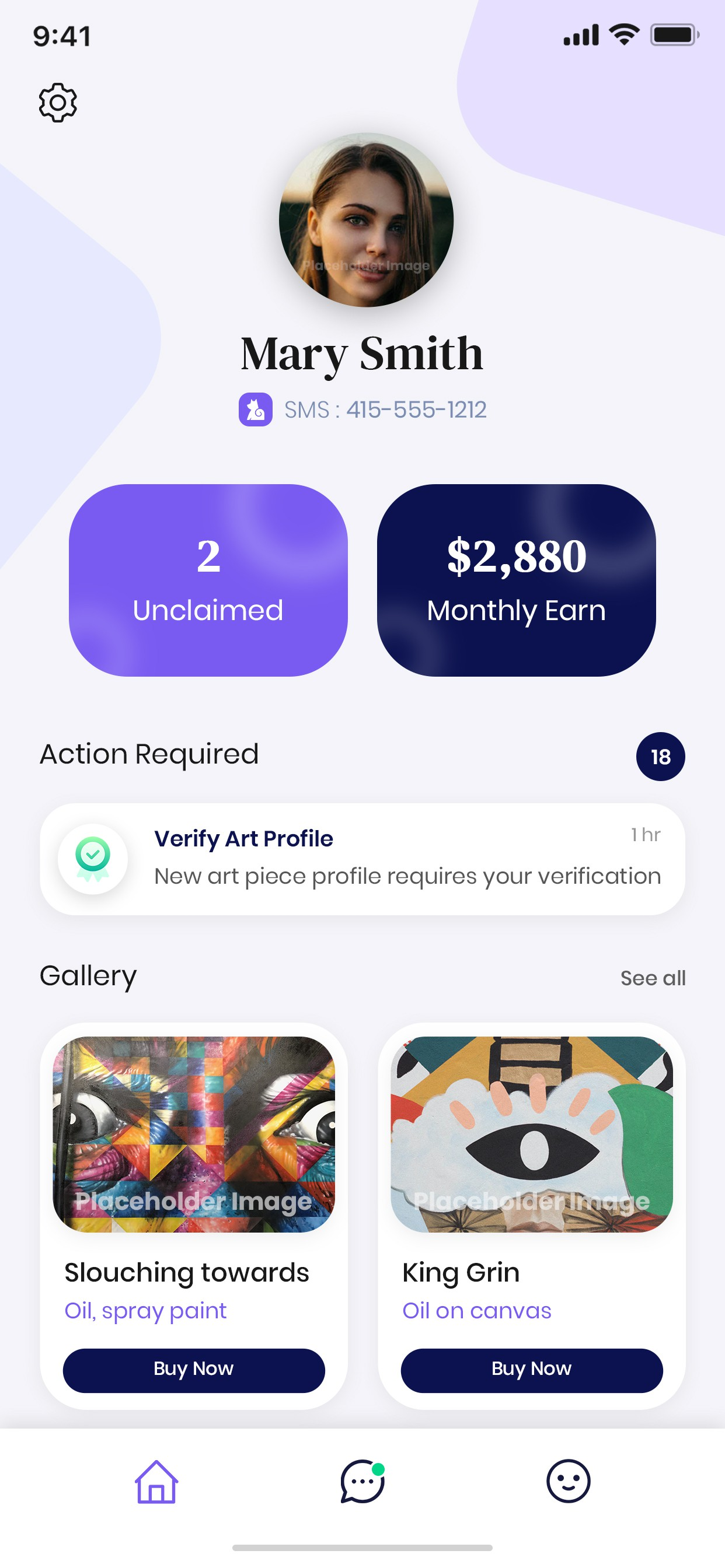[URGENT] We need a BEAUTIFUL home screen for our NEW art mobile app