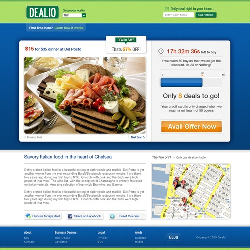 Clean, Social Ecommerce Web Application Design