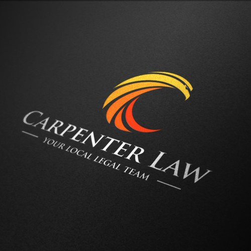 Create a logo for Carpenter Law, a legal firm in the heart of outback Queensland, Australia