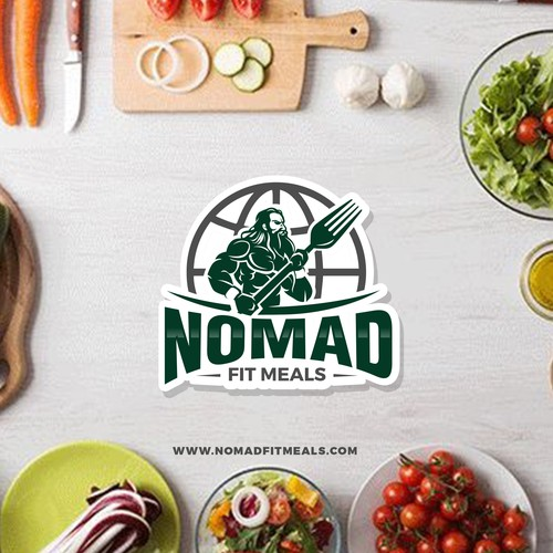 Warrior nomad Fitness Meal prep company logo