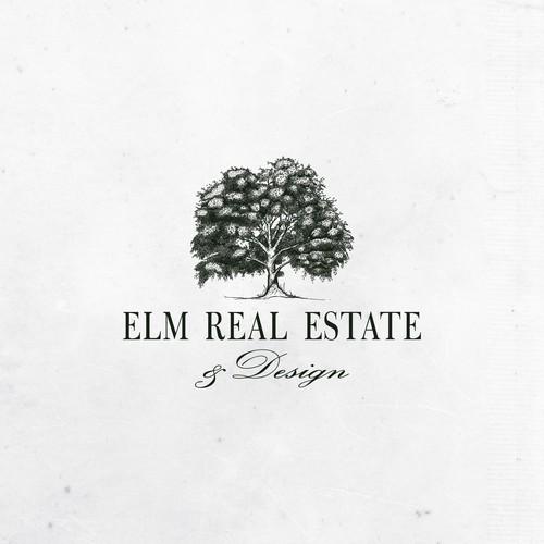 Elm Tree logo design for Elm real estate and design