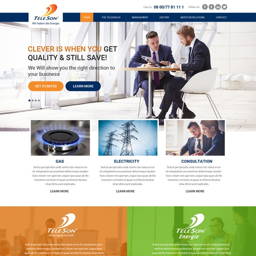 Wordperss theme design for Teleson