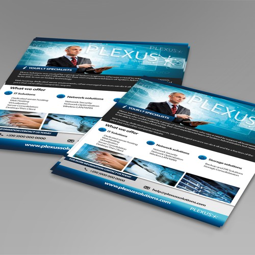 Help Plexus Solutions with a new postcard, flyer or print
