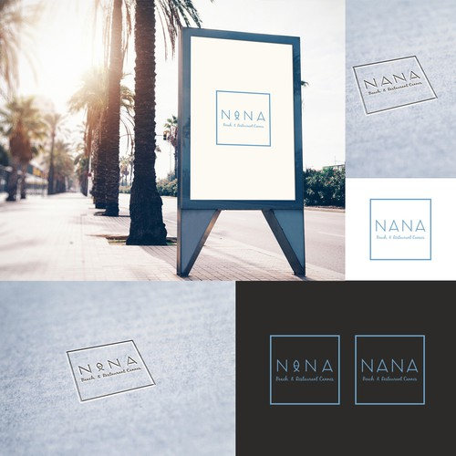 "Logo for restaurant  ""NANA"" in Cannes"