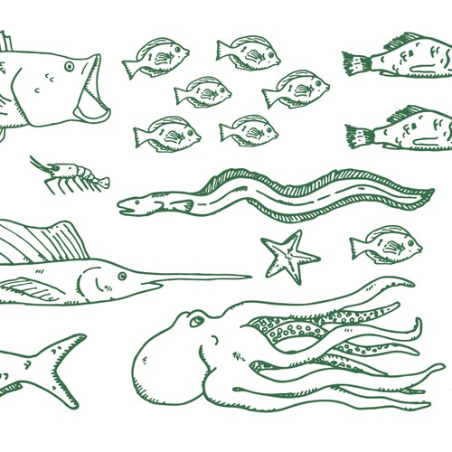 Aquatic Life Pattern for Whole Foods