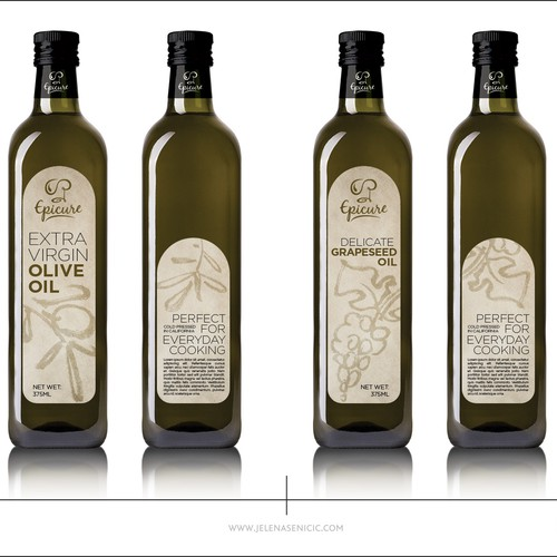 Olive and grape oil label design