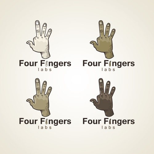 Bold logo for Four fingers Lab