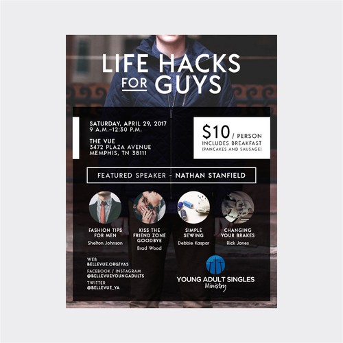 life hacks for guys poster