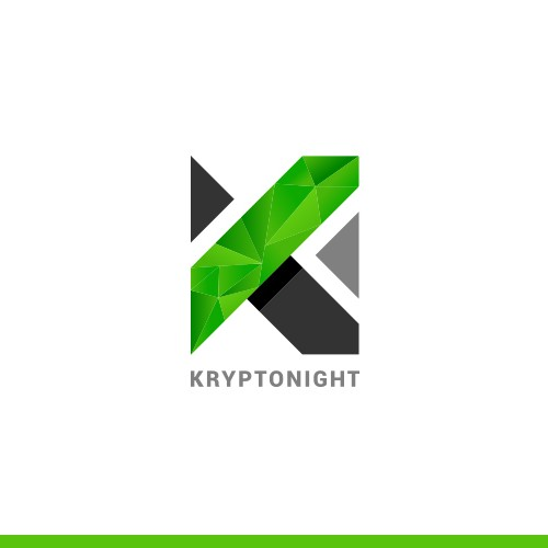 Logo for kryptonight, a cryptocurrency exchange platform