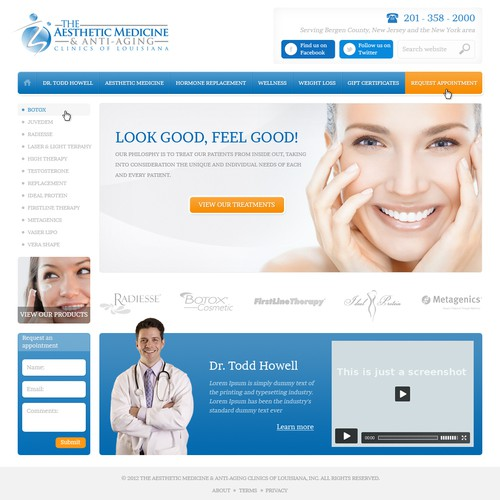 Create the next website design for Aesthetic Medicine and Anti aging Clinics of Louisiana
