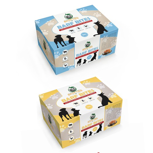 Dogs food packaging
