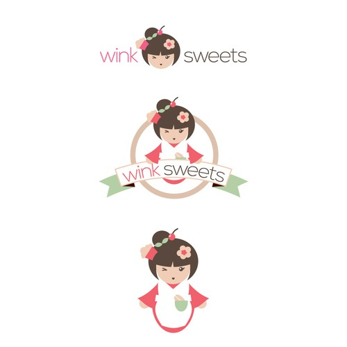 logo for wink sweets (lower case)