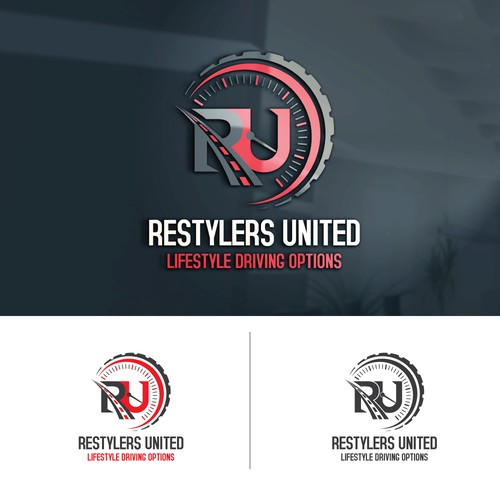 Restylers united logo design