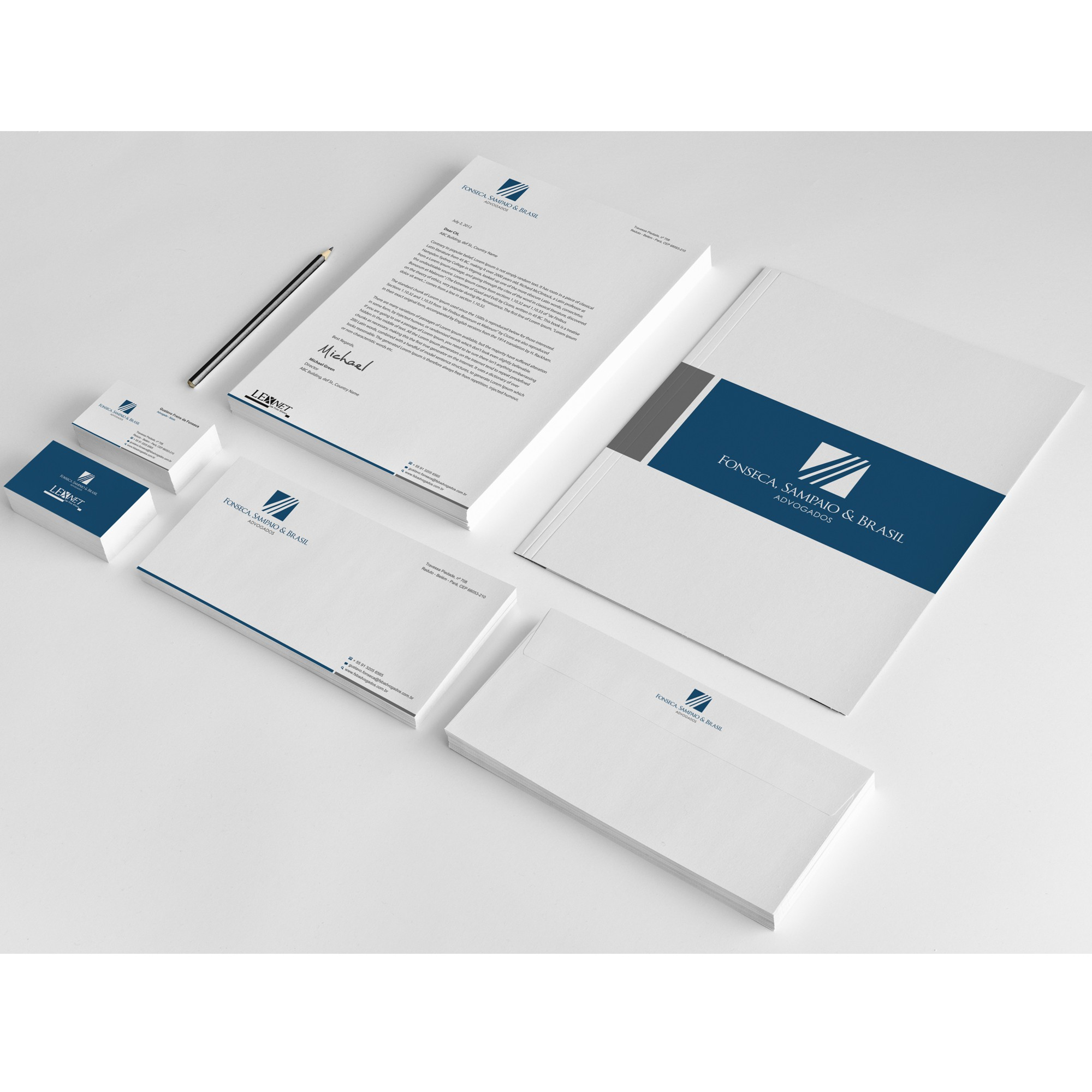 New stationery wanted for Fonseca, Sampaio & Brasil Advogados