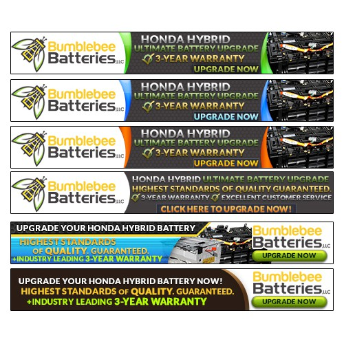 Create a value-driven banner ad for Bumblebee Batteries!