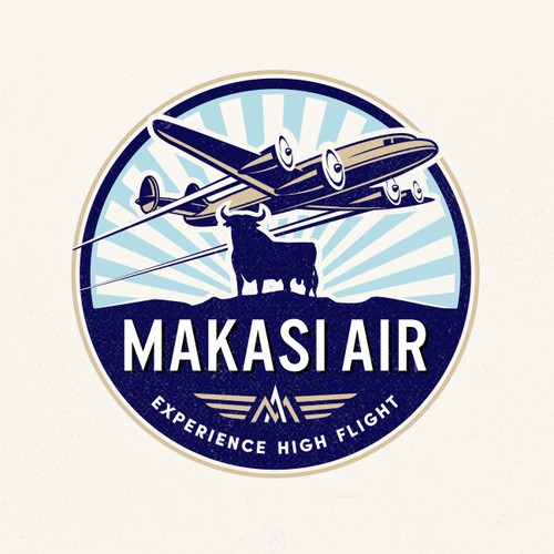 "Logo proposal for ""Makashi Air""."