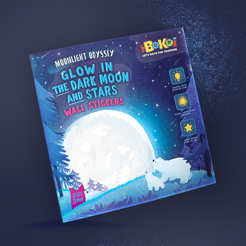 Illustrated packaging for a Moonlight Odyssey