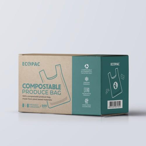 Compostable Bag packaging design