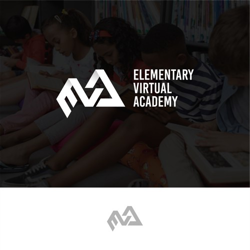 modern logo concept for elemantary virtual academy