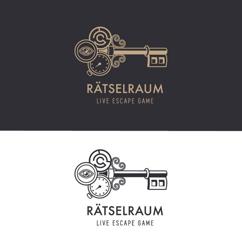 A creative logo for a Mystery-Room - Live Escape Game