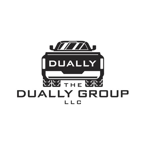 Simple Bold Dually Truck Logo