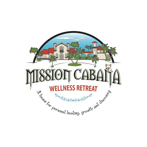 Logo for wellness retreat