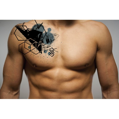 Tattoo with Stealth Bomber