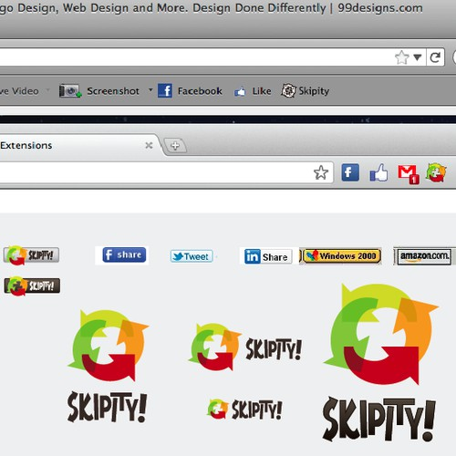 Design the Skipity Buttons and Icon!