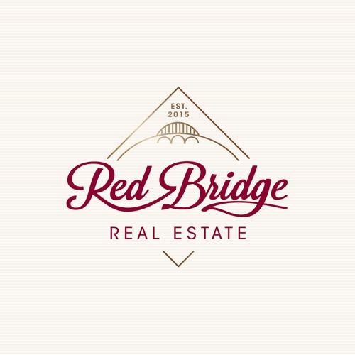 Vintage real estate company logo concept