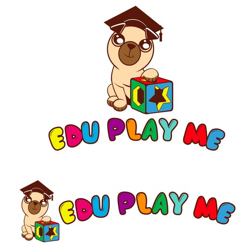 Create a playful toy/game store logo for Edu Play Me