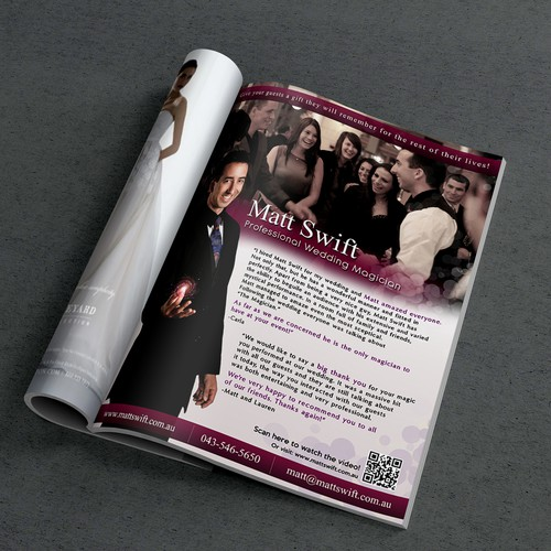Professional Wedding Magician Ad Design