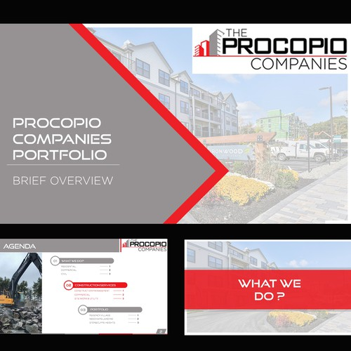 Corporate PowerPoint template for Construction company
