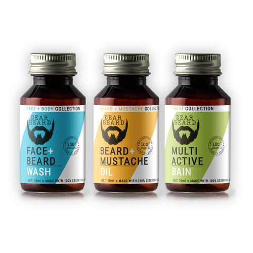 Beard oil label design