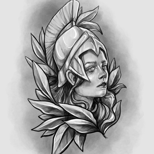 Tattoo design for the part of sleeve