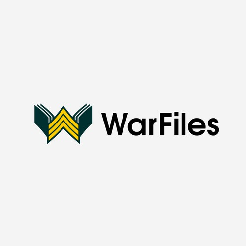 logo concept for War Files, a social media platform about interesting war-related topics