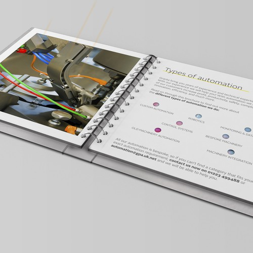 Company brochure design for a company doing automation projects