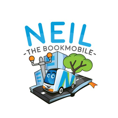 Fun Mascot For Mobile Book service