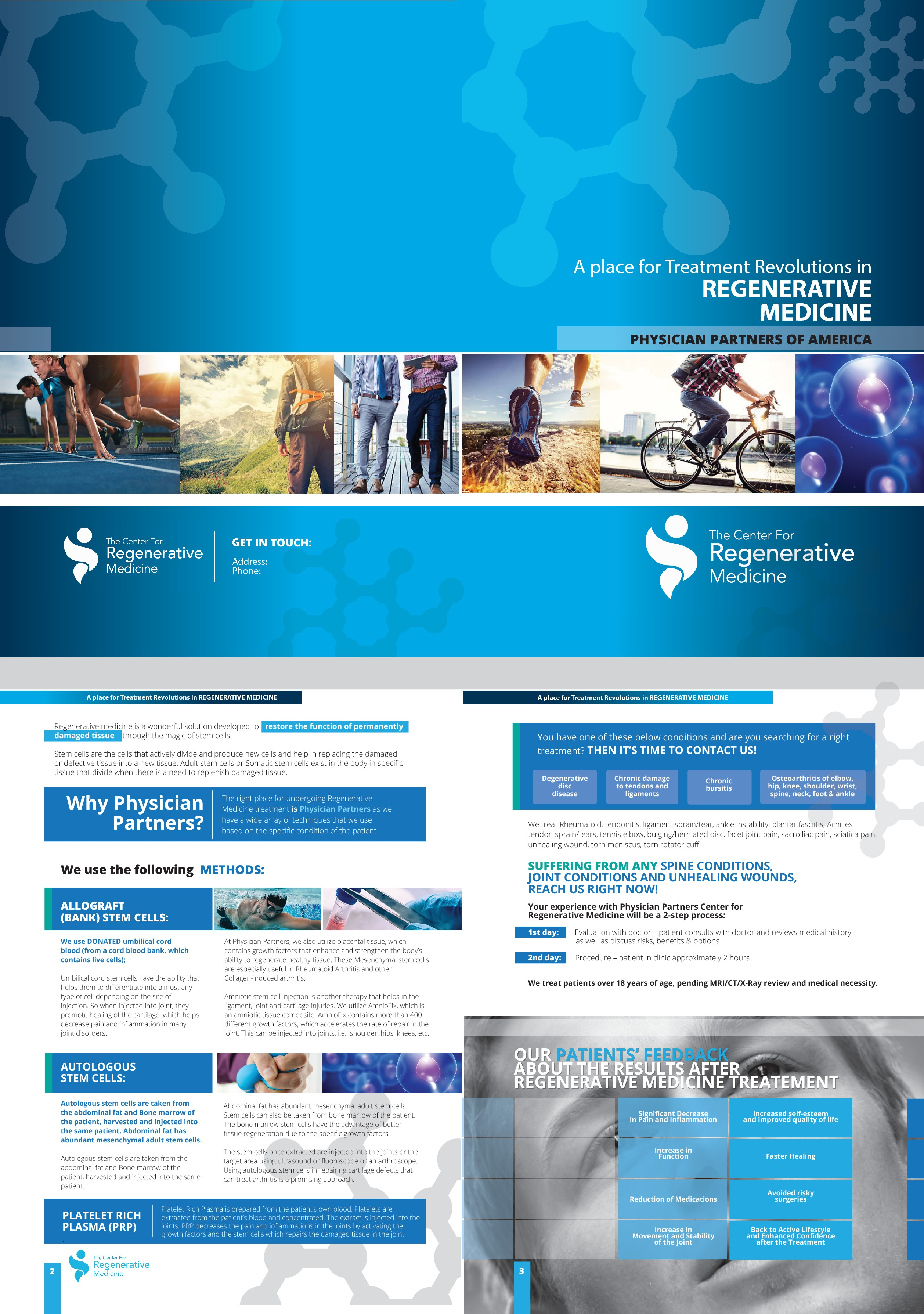 stem cell therapy brochure