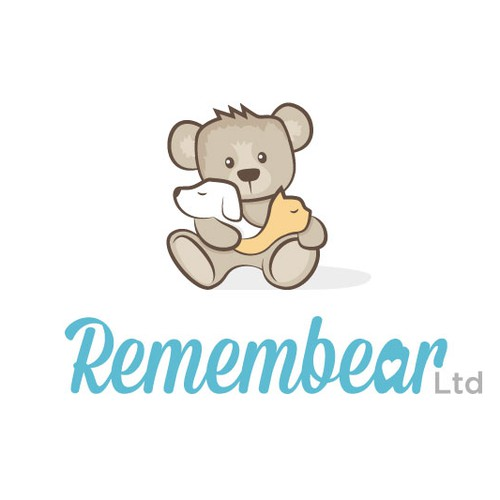 Teddy Bear logo with pets