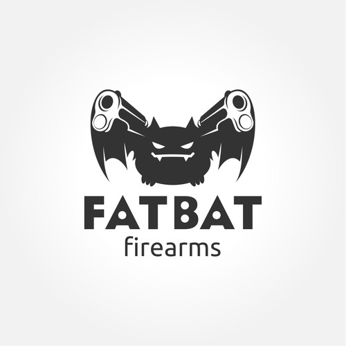 Simple, clean logo for firearms company
