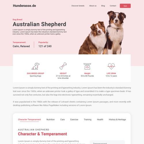 Hunderasse Web Interface
