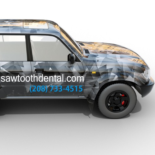 Design a car wrap for the dental office you'll want to go to