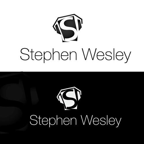 creative font word-based logo for Stephen Wesley