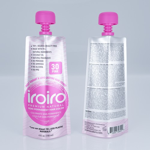 iroiro cosmatics packaging