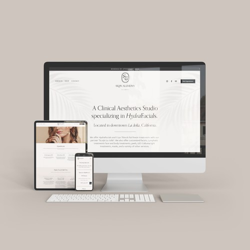 Squarespace Website for Skyn Alchemy La Jolla