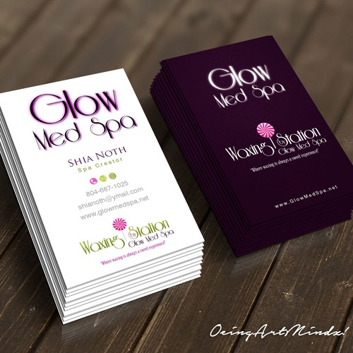 Glow luxury card
