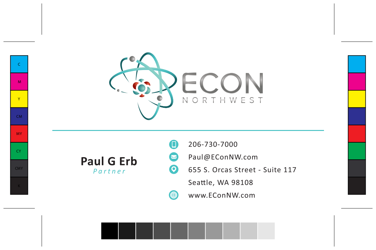 2019 Address change on our business cards designed for us.